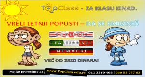 Top Class ponuda letnjih kurseva jezika već od 2580 rsd