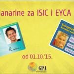 Nove članarine za EYCA, ISIC i ITIC kartice